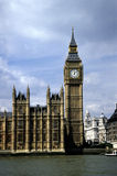 Big Ben. And the River Thames, London, England Royalty Free Stock Photo