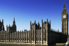 Big Ben. View of Big Ben and the Houses of Parliament Royalty Free Stock Image