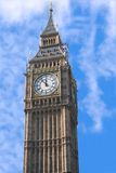 Big Ben. View of London's Big Ben against blue sky stock photography