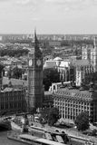 Big Ben. The Big Ben in London in black and white Stock Image