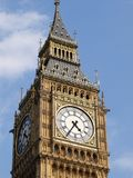Big Ben. Close view of the Big Ben, London royalty free stock photography