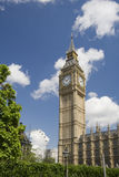Big ben. At the Houses of Parliament, Westminster Palace, London Royalty Free Stock Images