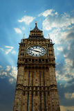 Big Ben. Telephoto of Big Ben, London, with artistic clouds around Stock Photos