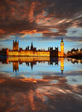 Big Ben am Abend, London, England Lizenzfreie Stockfotos