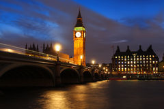 Big Ben am Abend, Westminster, London Stockbilder
