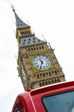 Big Ben adn London Bus. Iconic Big Ben with red London Bus royalty free stock photos