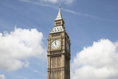 Big ben against a blue sky Royalty Free Stock Photos