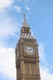 Big Ben against a blue sky in London,uk Stock Photo