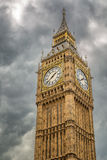 Big Ben against a grey, cloudy sky Royalty Free Stock Images