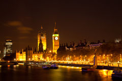 Big Ben along river Thames Stock Photos