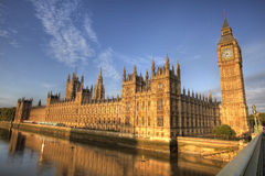 Big Ben And Westminister Abbey London Stock Image