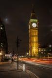 Big Ben & as luzes de rua Imagem de Stock Royalty Free