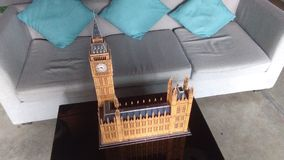 Big Ben av det London 3D pusslet Arkivfoto