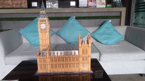 Big Ben av det London 3D pusslet Arkivfoton