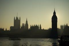 Big Ben back light Royalty Free Stock Images