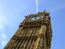 Big Ben from below in London CIty Stock Images