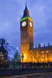Big Ben bij Kerstmis Stock Afbeeldingen