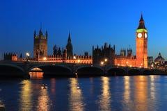 Big Ben bij nacht Stock Afbeelding