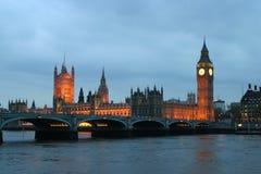 Big Ben bis zum Nacht Lizenzfreie Stockbilder