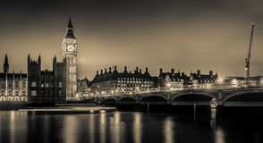Big Ben in Black and White Stock Photos