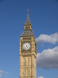 Big Ben With Blue Sky And Clouds In Background. Big Ben In Afternoon Light in September 2012 Royalty Free Stock Photography