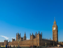 Big Ben and Blue Sky Royalty Free Stock Images