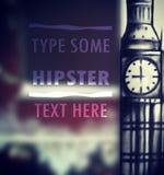 Big ben blur typographic background illustration Stock Photography