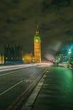 Big Ben Boczny widok Tęsk ujawnienie Zdjęcie Stock
