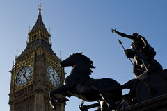 Big Ben and Boudica Monument Royalty Free Stock Images