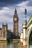 Big Ben with bridge in London, England Royalty Free Stock Photography