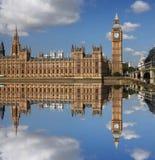 Big Ben with bridge, London, UK Stock Photos