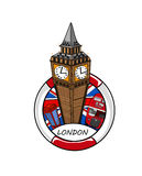 Big Ben caricature Royalty Free Stock Photography