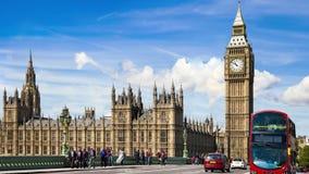 Big Ben, casas da ponte do parlamento e de Westminster Londres filme