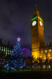 Big Ben on a Christmas Night Royalty Free Stock Photos
