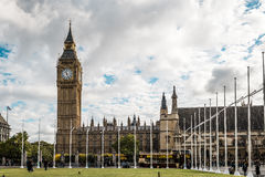 Big ben and city center of London, UK Royalty Free Stock Image