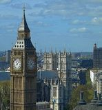 Big Ben and the city of London stock image