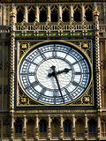 Big Ben Clock Face 4. A close up of the clock face on the tower that contains Big Ben in London Stock Photo