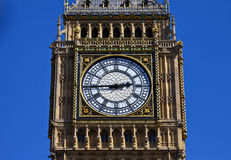 Big Ben Clock Face in London Stock Images
