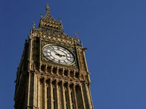 Big Ben Clock Face, London, UK Royalty Free Stock Photography