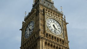 Big Ben Clock Face Time Lapse stock video