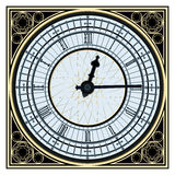 Big Ben Clock. Famous Big Ben clock tower in vector format image on white background Stock Photography