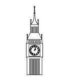 big ben clock isolated icon Royalty Free Stock Photos