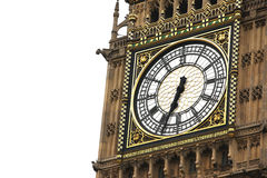 Big Ben  clock isolated on white Stock Images
