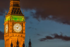 Big Ben clock. The Big Ben at night Stock Photos
