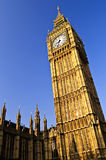 Big Ben clock tower. And Houses of Parliament in London Royalty Free Stock Photos