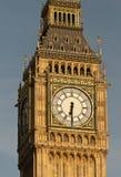Big Ben clock tower. A close-up of Big Ben's clock tower at the Palace of Westminster, London Stock Photos