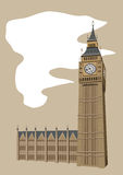Big Ben Clock Tower Stock Image