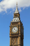 Big Ben clock tower. London, United Kingdom - Palace of Westminster (Houses of Parliament) Big Ben clock tower. UNESCO World Heritage Site Stock Photography
