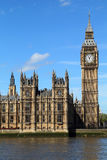 Big Ben clock tower. London, United Kingdom - Palace of Westminster (Houses of Parliament) Big Ben clock tower. UNESCO World Heritage Site Royalty Free Stock Image