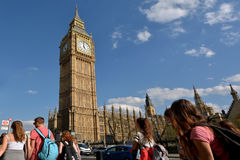 Big Ben clock tower on Elizabeth Tower of Palace of Westminster Stock Images